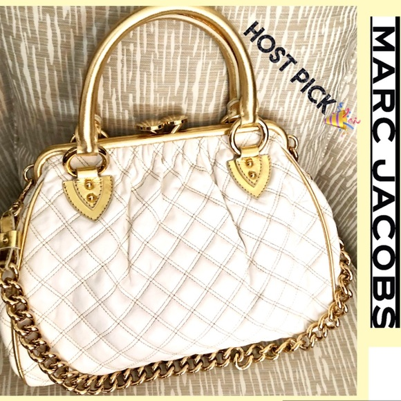 Marc Jacobs Handbags - 🔥Marc Jacobs Bag Limited Edition Gold White Lamb